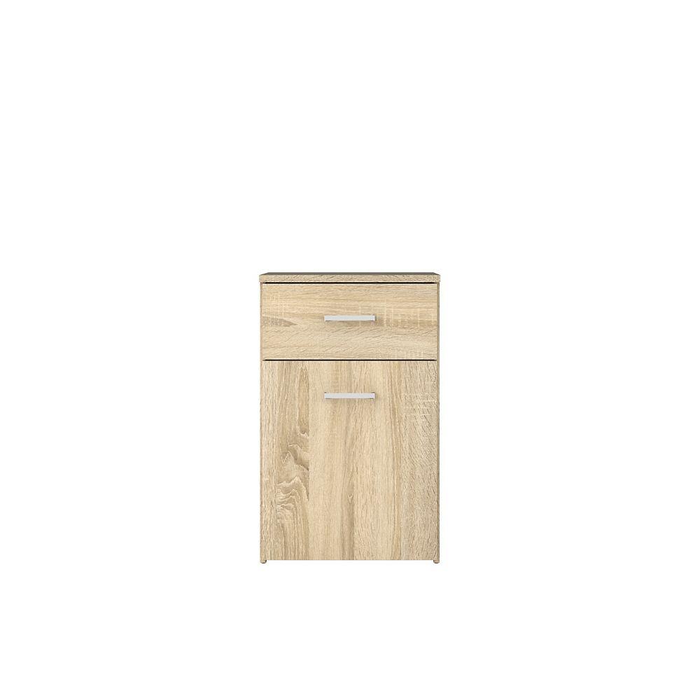 Tvilum Space 1 Drawer, 1 Door Nightstand in Oak Structure