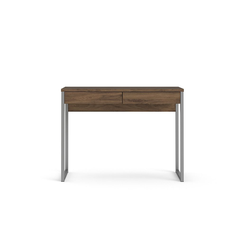 Tvilum Walker 2 Drawer Desk in Walnut