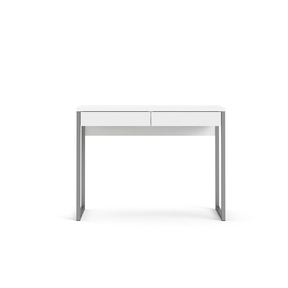 Tvilum Walker 2 Drawer Desk in White High Gloss