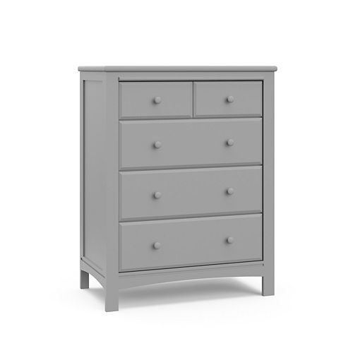 Benton 41.06-inch x 92.3-inch x 31.9-inch 4-Drawer Chest in Pebble Grey for Kids