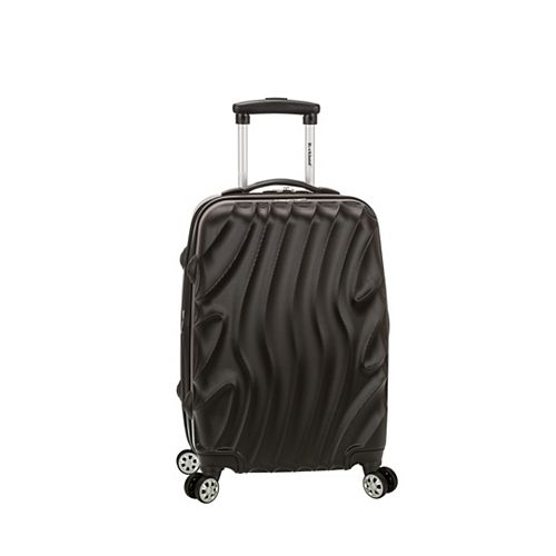 Wave 20 in. Expandable Carry On Hardside Spinner Luggage, Blackwave