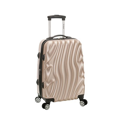 Wave 20 in. Expandable Carry On Hardside Spinner Luggage, Goldwave