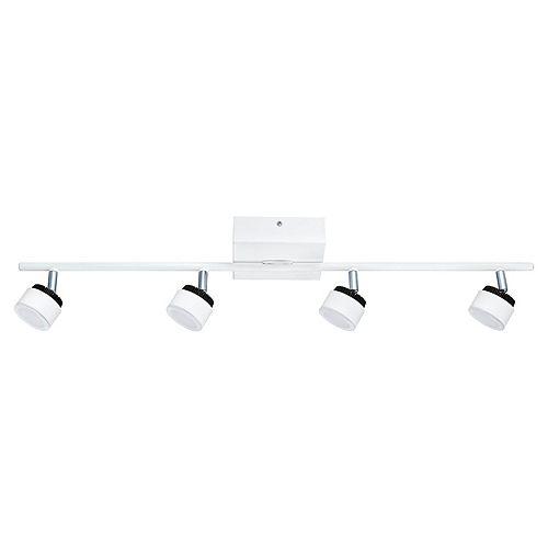 Armento LED Track Light 4L, White Finish