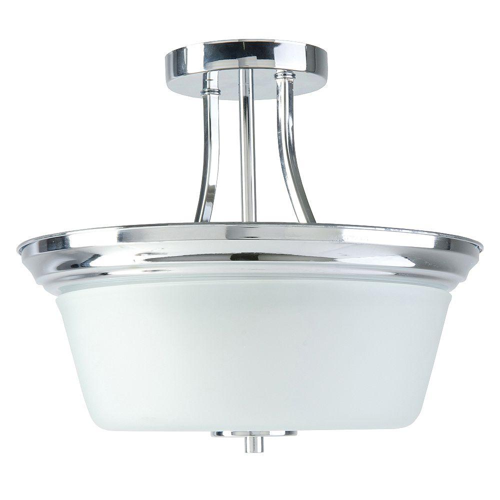 Beldi Inc. Markam Collection 2-Light Chrome Semi Flush Mount Light