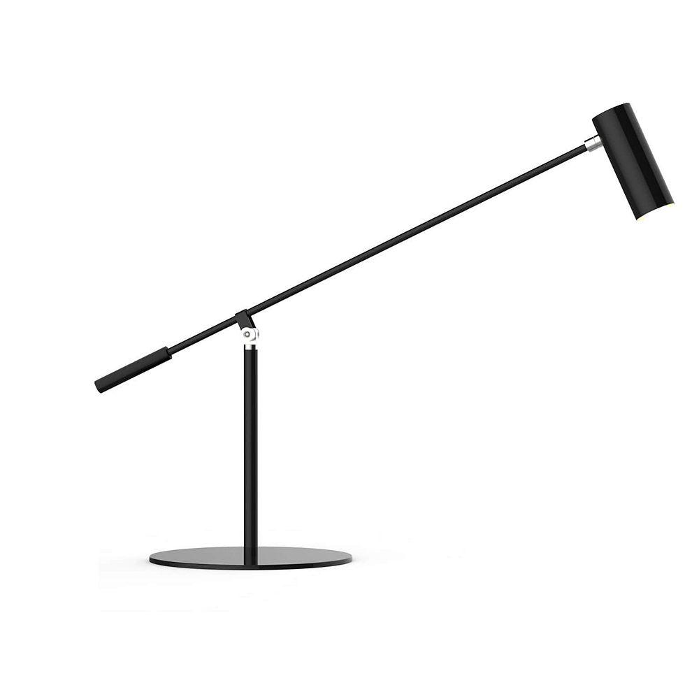 Beldi Inc. Lampe de bureau noire de la collection DEL
