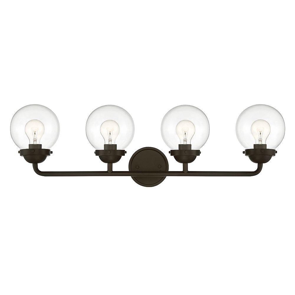 Designers Fountain Luminaire de salle de bain à 4 ampoules, fini bronze huilé