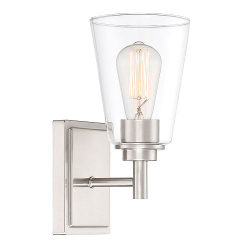 Designers Fountain 5.25 inch 1Lt Sconce,Sat inchPlat inchum