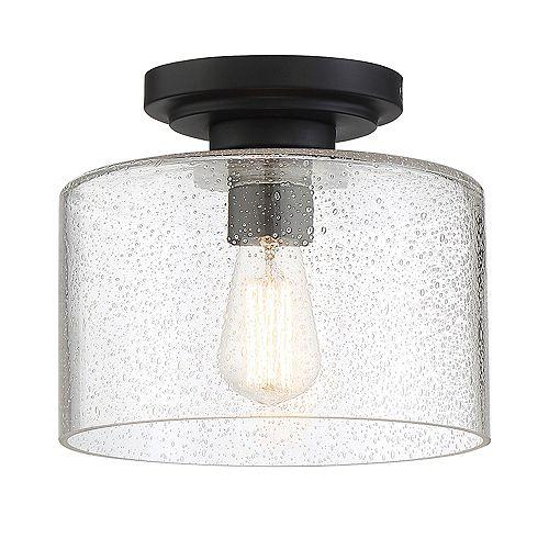 Designers Fountain Semi-plafonnier à 1 ampoule, fini noir mat
