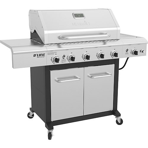 5-Burner Propane BBQ in Stainless Steel with Ceramic Searing Side Burner