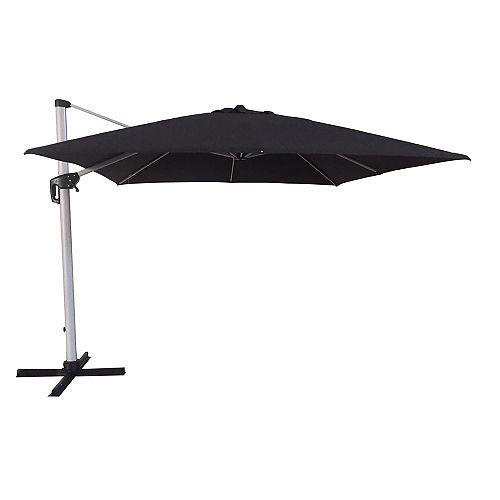 Hampton Bay 10 ft. Aluminum Offset  Patio Umbrella in Sunbrella Spectrum Carbon (Charcoal)