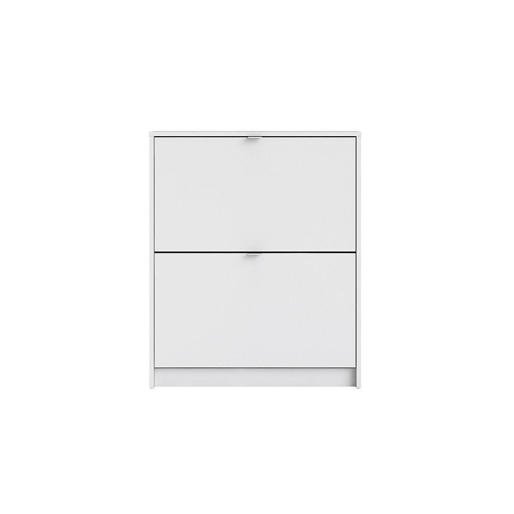 Tvilum Bright 2 Drawer Shoe Cabinet in White