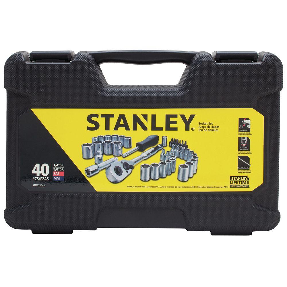 STANLEY 40 PC 1/4-INCH & 3/8-INCH DRIVE MECHANICS TOOL SET