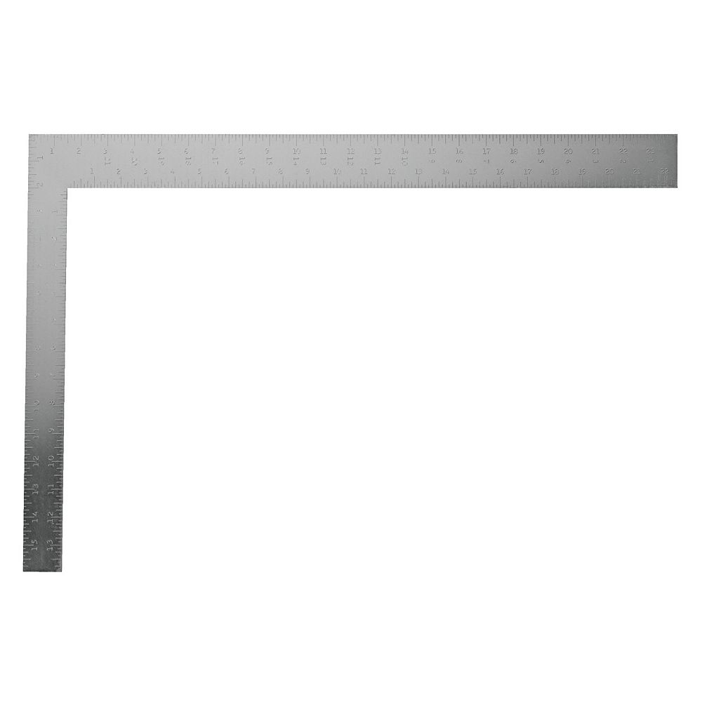 STANLEY 24-INCH STEEL ENGLISH CARPENTERS SQUARE