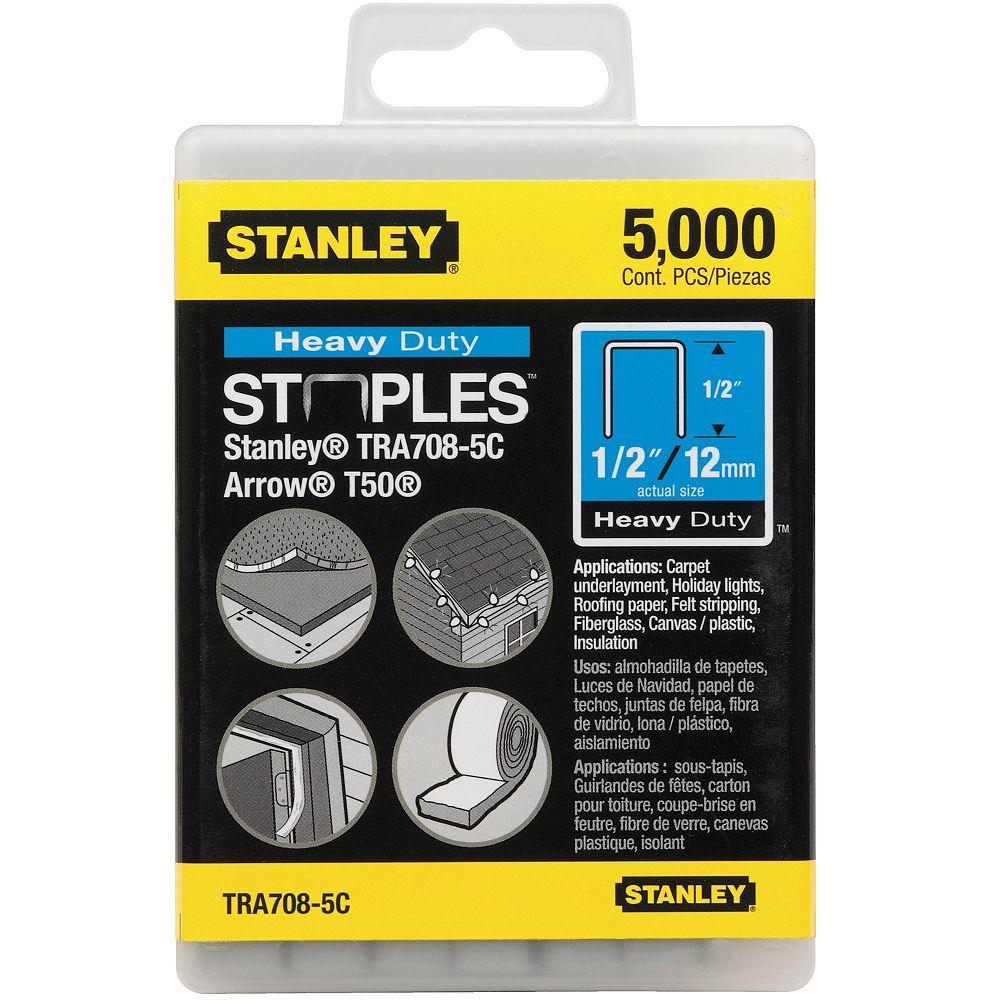 STANLEY 5000 PC 1/2-INCH HEAVY DUTY STAPLES