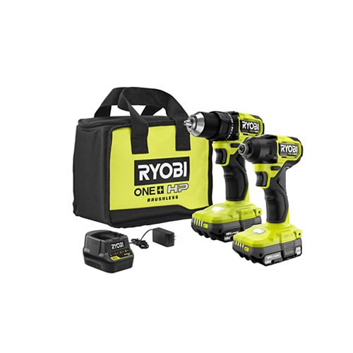18V ONE+ HP Brushless Cordless Compact 1/2-inch Drill Driver & Impact Driver Kit with (2) 1.5 Ah Batteries, Charger and Bag