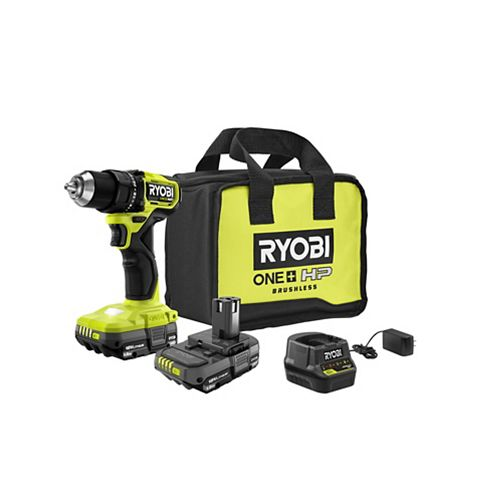 18V ONE+ HP Brushless Cordless Compact 1/2 -inch Drill/Driver Kit with (2) 1.5 Ah Batteries, Charger and Bag