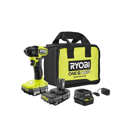 18V ONE+ HP Brushless Cordless Compact 1/4 -inch Impact Driver Kit with (2) 1.5 Ah Batteries, Charger and Bag