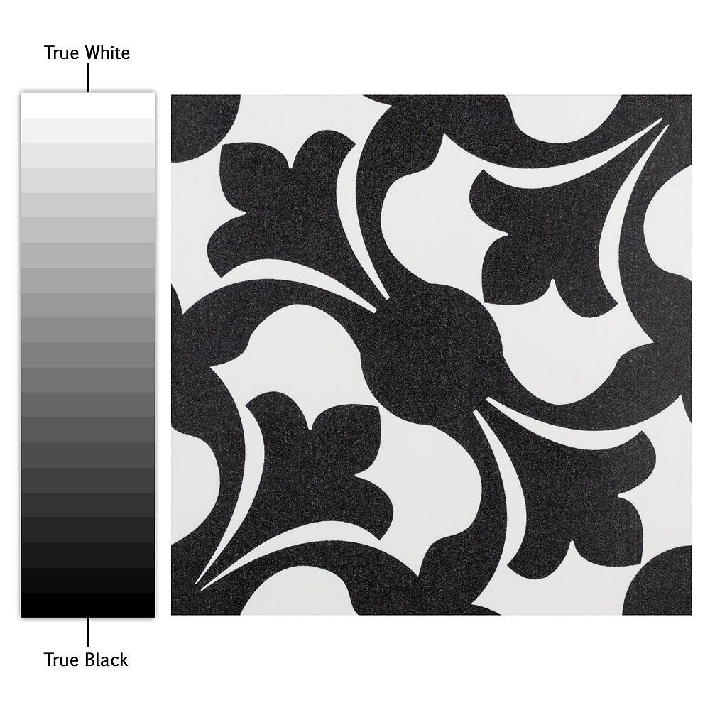 Merola Tile Emotion Nero 7-3/4-inch x 7-3/4-inch Ceramic Floor and Wall Tile (10.94 sq. ft. / case)