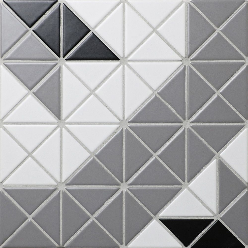 Merola Tile Tre Blossom Octo Twist Classic Mix 10-1/8-inch x 10-1/8-inch x 6 mm Porcelain Mosaic (7.3 sf/ca)