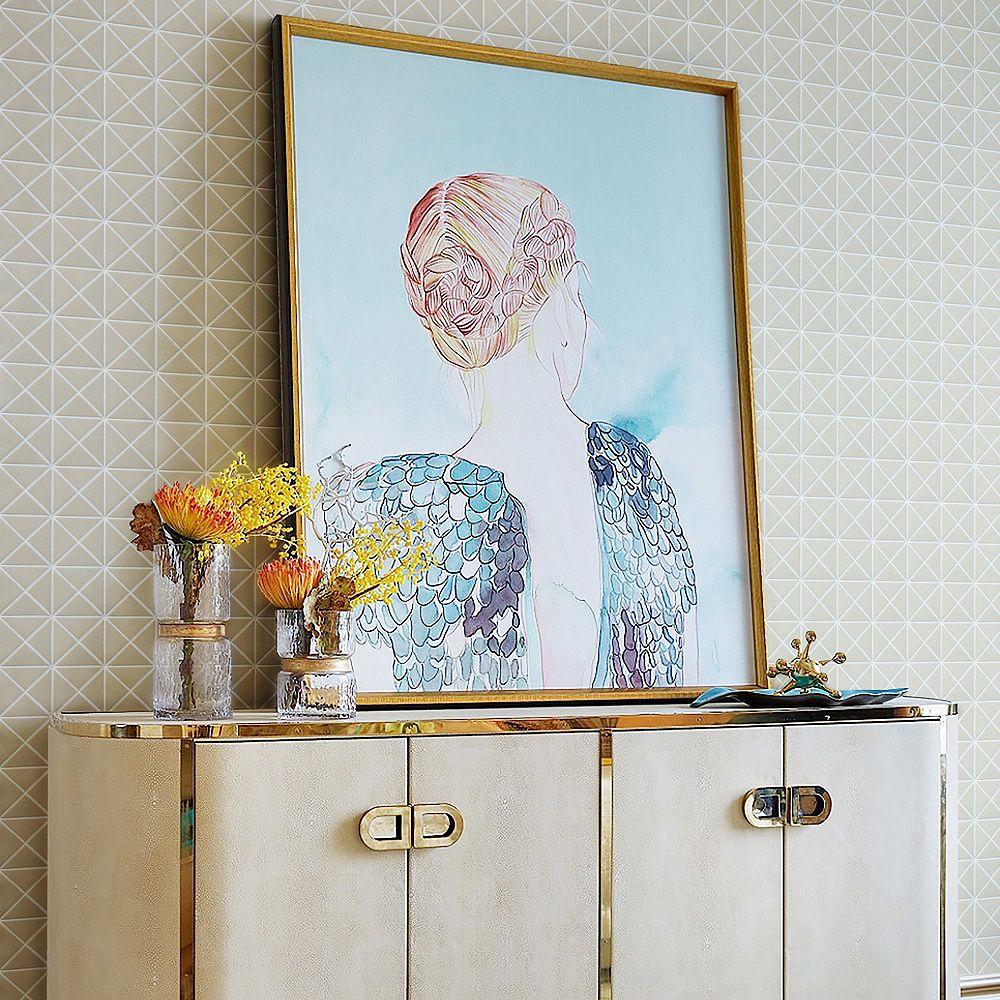 Merola Tile Sample - Trego Crossover White 10-1/8-inch x 10-1/8-inch x 6 mm Unglazed Porcelain Mosaic Tile