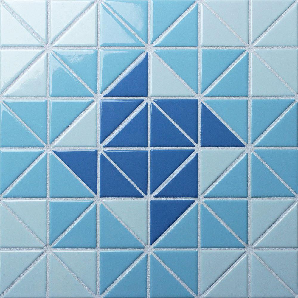 Merola Tile Carreau de porcelaine Tre Cyclone Santorini Mix, 10 3/4 po x 10 3/4 po x 6 mm, 8,21 pi2/bte