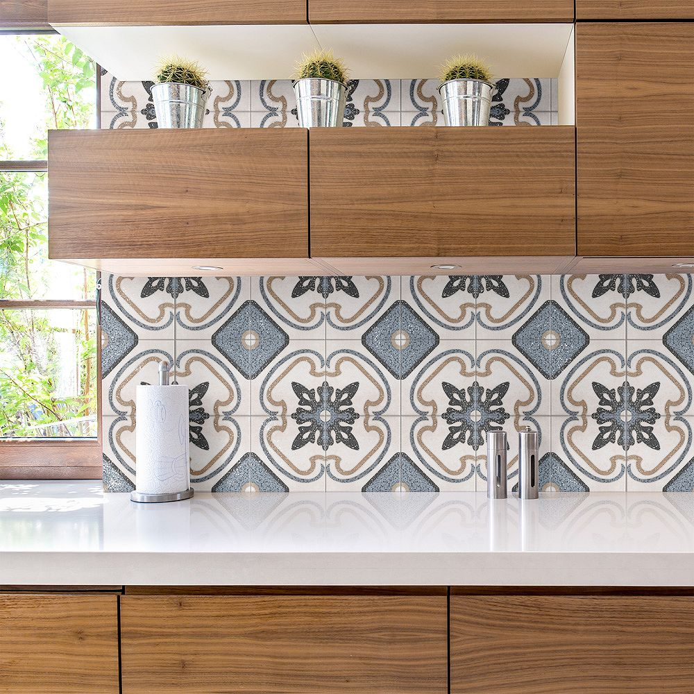 Merola Tile Atempo Palazzo Capri 9-7/8-inch x 9-7/8-inch Porcelain Floor and Wall Tile (11.25 sq. ft. / case)