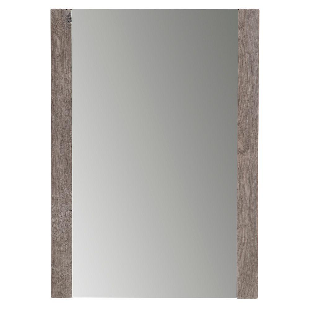 Domani Domani 20-inch W x 28-inch H x 1.25-inch D Framed Rectangular Bathroom Vanity Mirror in White Washed Oak