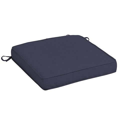 CushionGuard Fade-Resistant Outdoor Square Seat Cushion in Midnight
