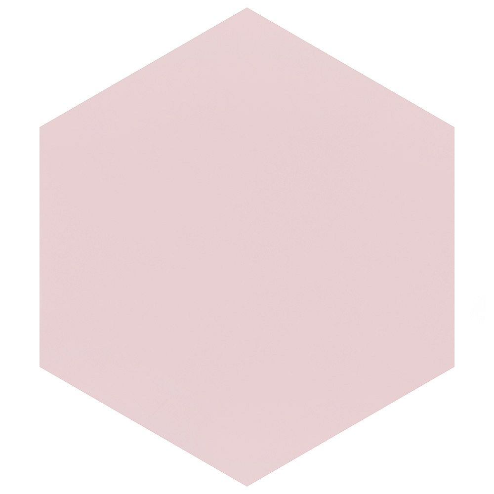 Merola Tile Textile Hex Rose 8-5/8-inch x 9-7/8-inch Porcelain Floor and Wall Tile (11.56 sq. ft. / case)