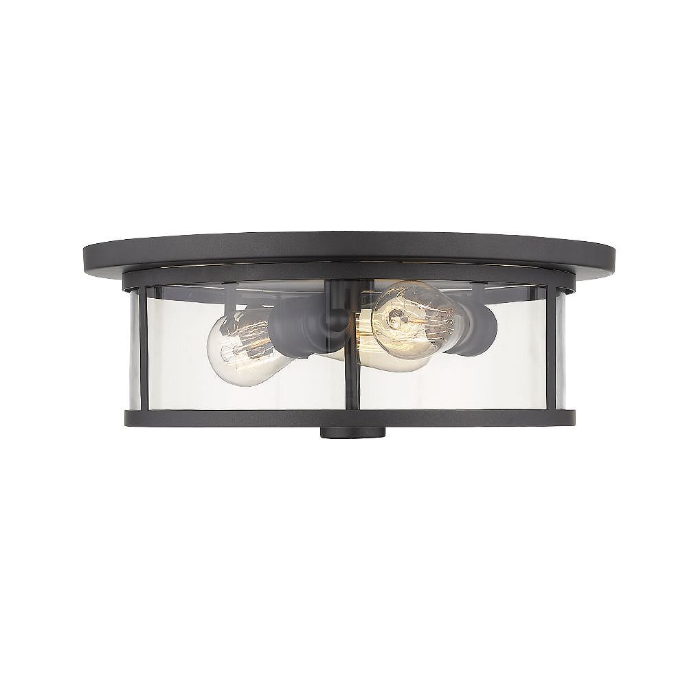 Filament Design 3-Light Bronze Flush Mount with Clear Glass