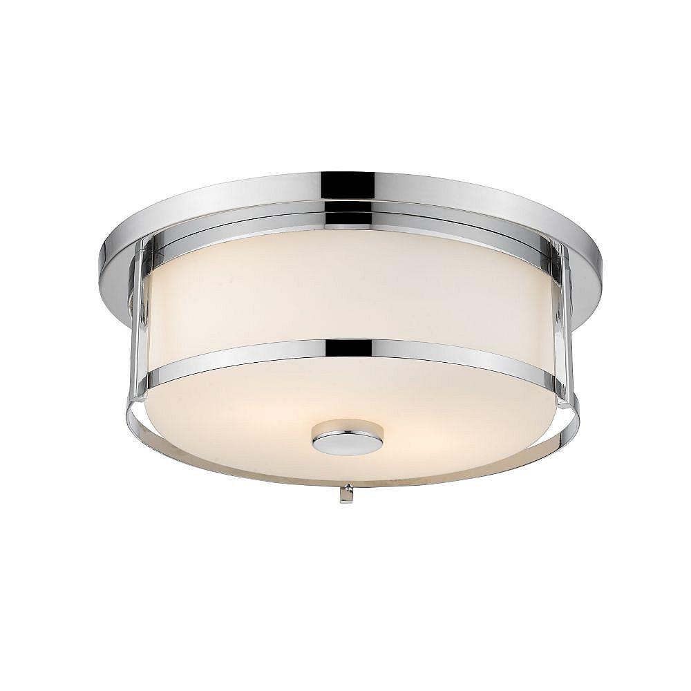 Filament Design 3-Light Chrome Flush Mount with Matte Opal Glass