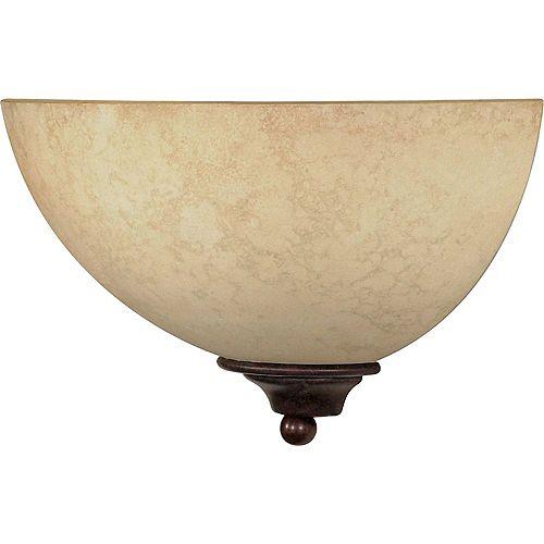 Applique murale à 1 ampoule bronze antique - 6 pouces