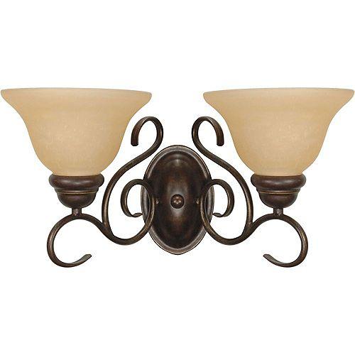 Filament Design 2-Light Sonoma Bronze and Champagne Wall Light