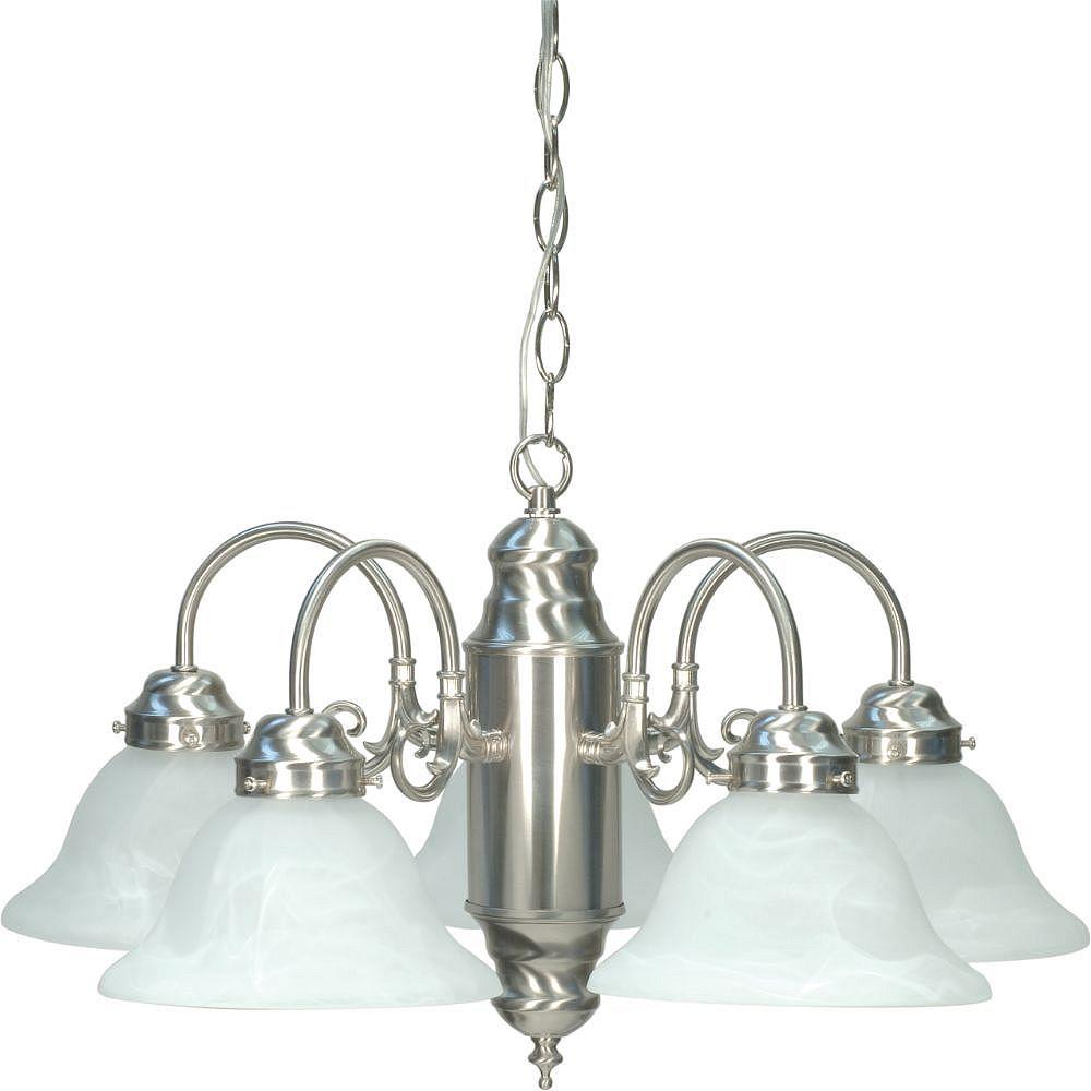 Filament Design 5-Light Brushed Nickel Chandelier - 13.13 inch