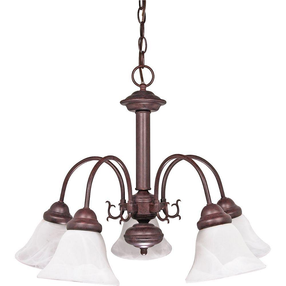 Filament Design 5-Light Old Bronze Chandelier - 18 inch