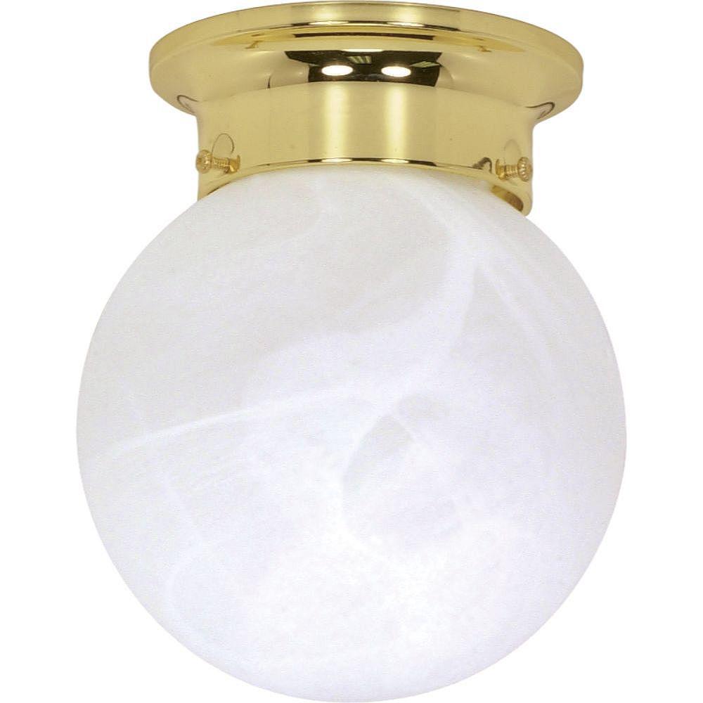 Filament Design Plafonnier à 2 ampoules en laiton poli - 6 pouces