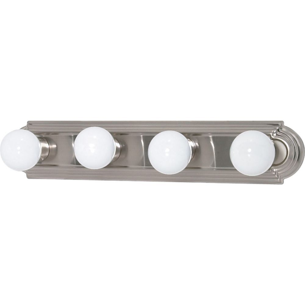 Filament Design 4-Light Brushed Nickel Bath Vanity Light - 24 inch