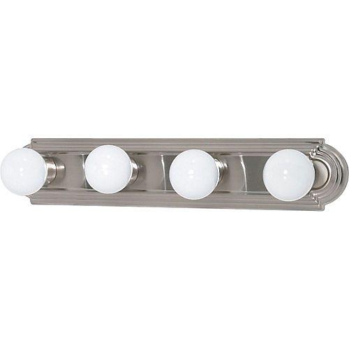 4-Light Brushed Nickel Bath Vanity Light - 24 inch