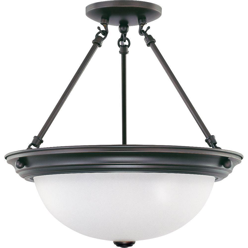 Filament Design Semi-plafonnier à 3 ampoules en bronze acajou