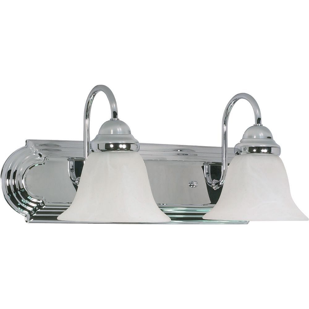 Filament Design Applique de salle de bain à 2 ampoules au fini chrome poli - 18 pouces