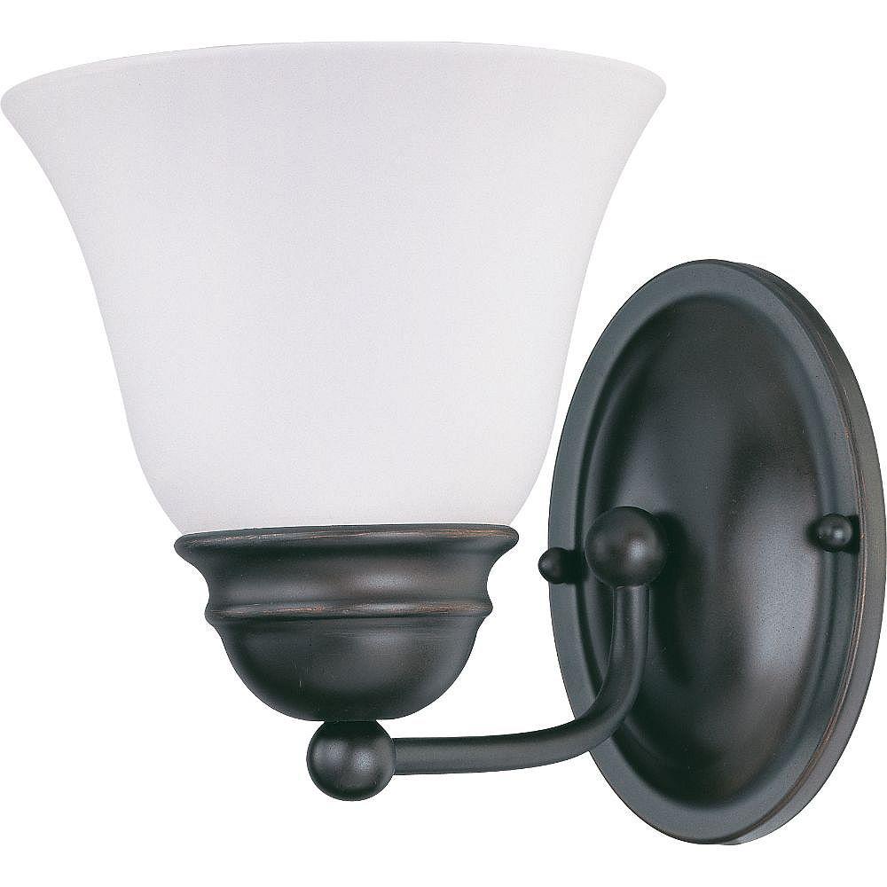 Filament Design 1-Light Mahogany Bronze Bath Vanity Light - 6.25 inch