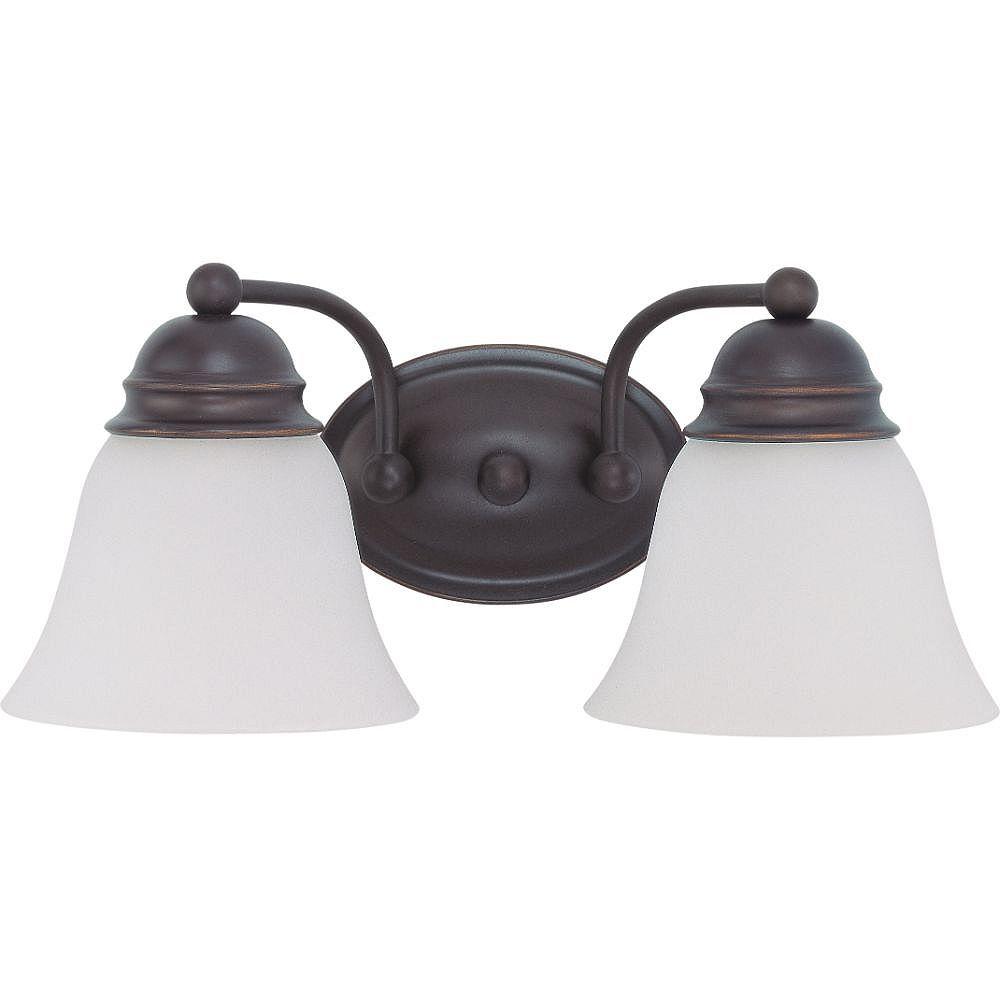 Filament Design 2-Light Mahogany Bronze Bath Vanity Light - 14.88 inch