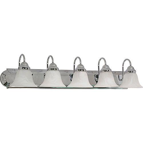 Filament Design Applique de salle de bain à 5 ampoules au fini chrome poli