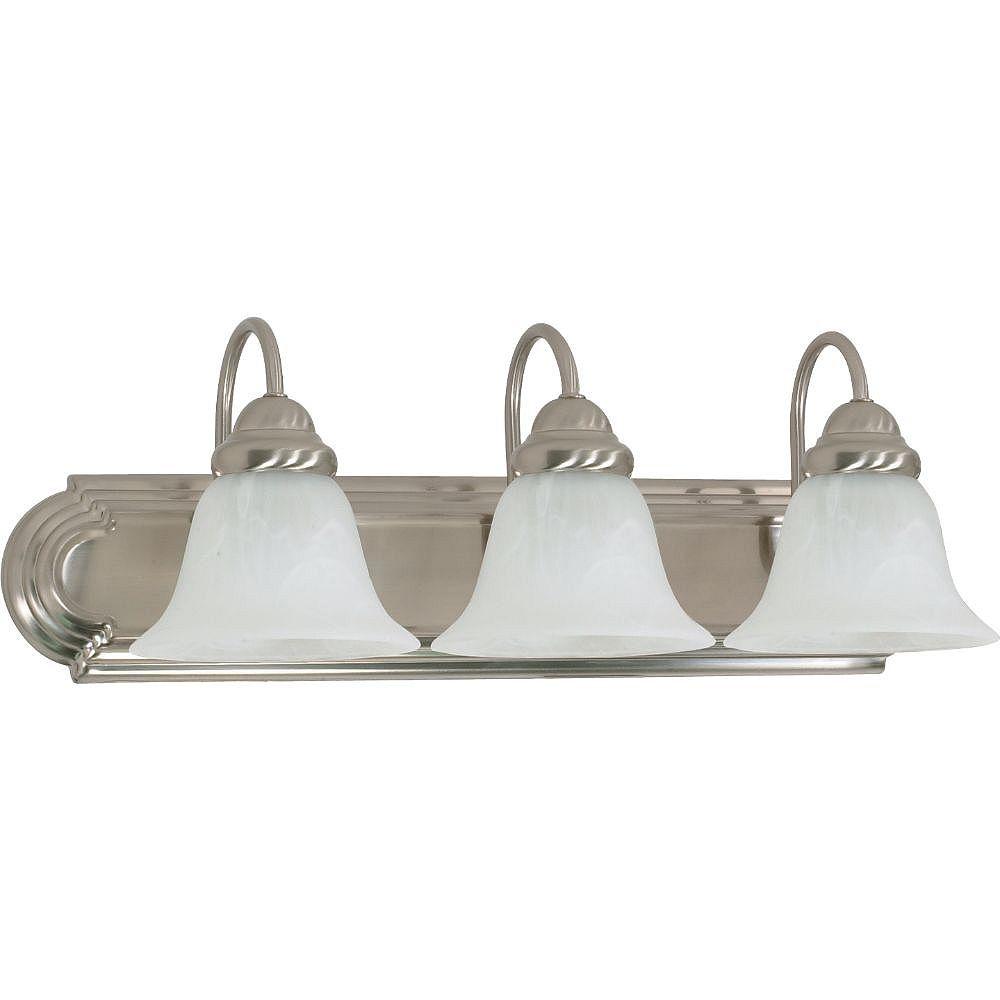 Filament Design 3-Light Brushed Nickel Bath Vanity Light - 7.63 inch