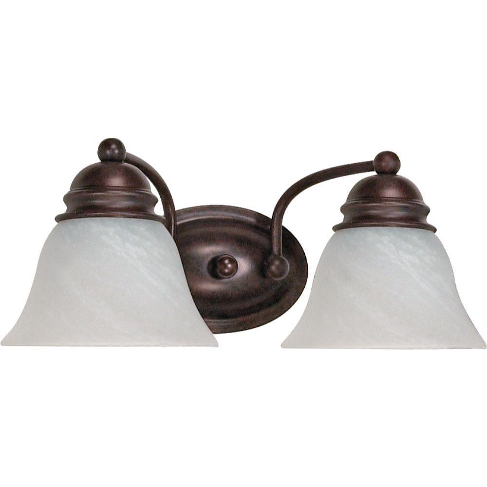 Filament Design Applique de salle de bain à 2 ampoules au fini bronze vieilli - 14,88 pouces