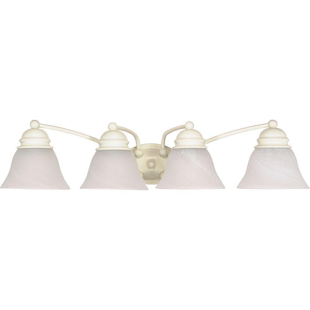 Filament Design Luminaire de vanité de salle de bain blanc texturé à 4 ampoules - 28,75 pouces