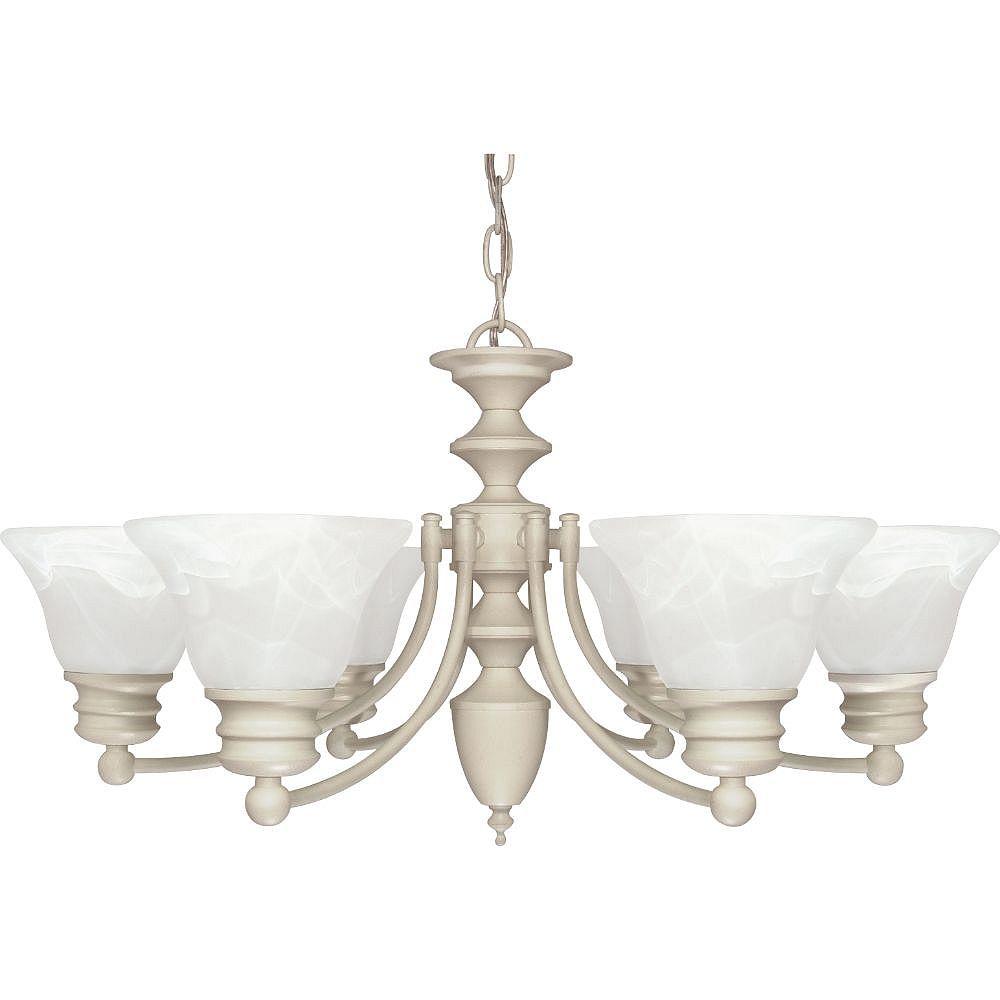 Filament Design Lustre blanc texturé à 6 ampoules