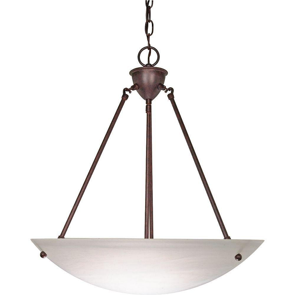 Filament Design Luminaire suspendu bronze à 3 ampoules - 22,5 pouces