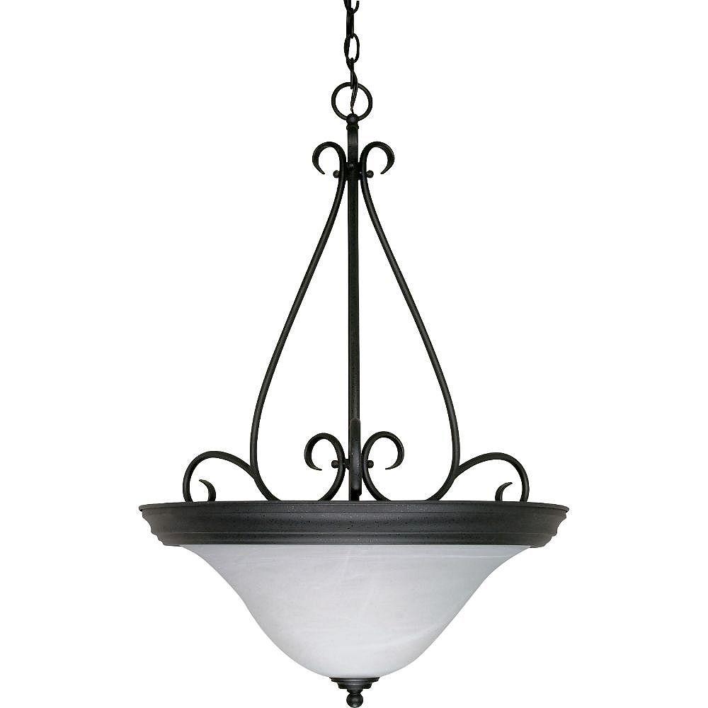 Filament Design Luminaire suspendu noir à 3 ampoules - 28,5 pouces
