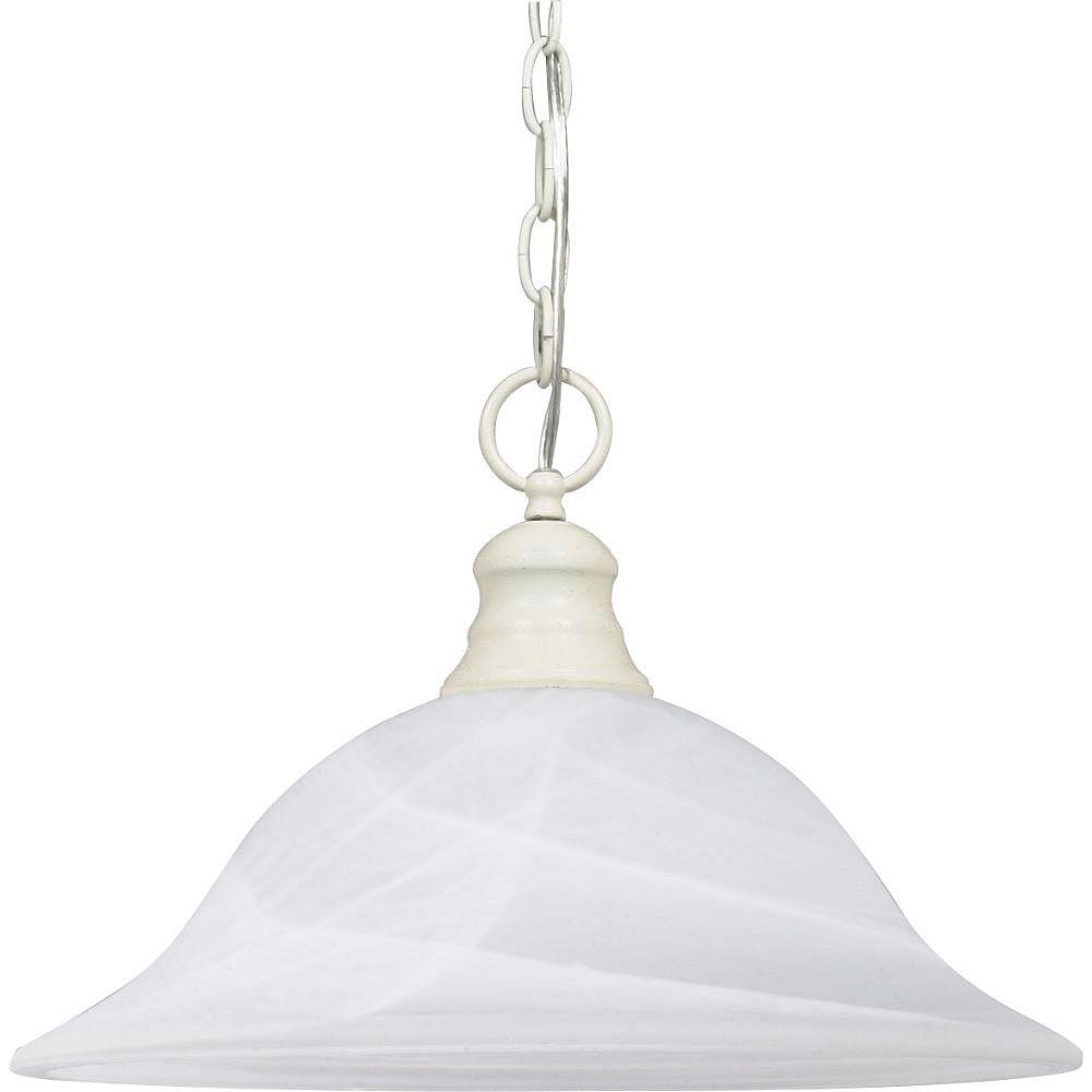 Filament Design 1-Light Textured White Pendant - 16 inch